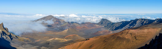 Cratère de Haleakala Image stock