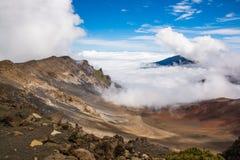 Cratère de Haleakala Photographie stock libre de droits