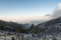 Cratère de Kawah Ijen, Java, INDONÉSIE Image stock