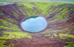 Cratère de Kerid Photo libre de droits