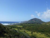Cratère de Koko, Oahu, Hawaï Image libre de droits
