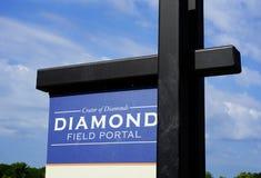 Cratère de l'entrée de diamants photo stock