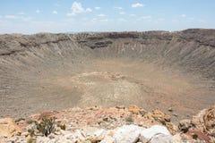 Cratère de météore Image stock