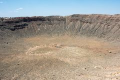 Cratère de météore Photo stock