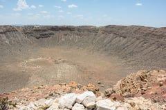 Cratère de météore Photos libres de droits