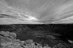 Cratère de météore Images libres de droits