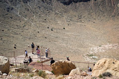 Cratère de météore Photographie stock