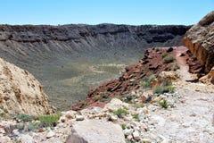 Cratère de météore Images stock
