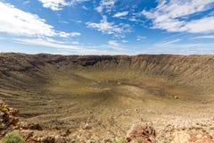 Cratère de météore, Arizona Images libres de droits
