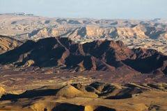 Cratère de Ramon. Image libre de droits