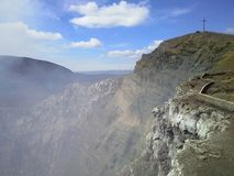 Cratère de sacrifice ? Cratère de Masaya Volcan, Masaya, Nicaragua images stock