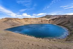 Cratère de Viti à la caldeira de krafla, Islande Photographie stock