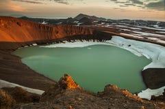 Cratère de Viti, volcan de Krafla Image stock