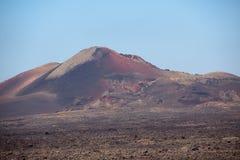 Cratère de volcan Images libres de droits