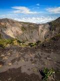 Cratère de volcan d'Irazu photos stock