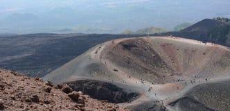Cratère de volcan de l'Etna photographie stock