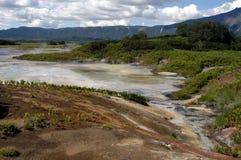 Cratère de volcan Uzon Images stock