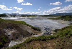 Cratère de volcan Uzon Image stock