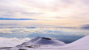Cratère dormant de l'Etna La Sicile, Italie Laps de temps clips vidéos