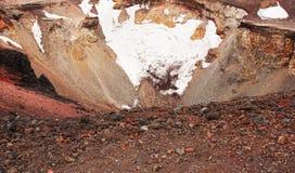 Cratère du mont Fuji Images libres de droits