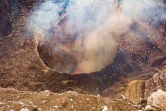Cratère du volcan Photo libre de droits