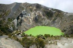 Cratère du volcan d'Irazu Image libre de droits