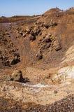 Cratère du volcan de Santorini photos stock