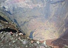 Cratère du volcan de Villarica Image libre de droits