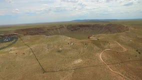 Cratère visuel aérien 4 de météore clips vidéos
