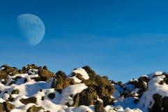 Cratères de la lune Photographie stock