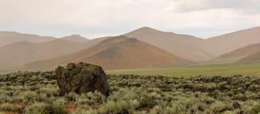 Cratères du monument Etats-Unis de Nationa de lune Images libres de droits