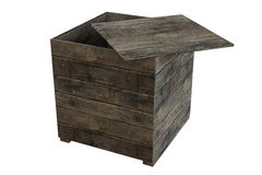 Crate. Wooden crate isolated over a white background. This is a 3D rendered picture Stock Photos