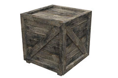 Crate. Wooden crate isolated over a white background. This is a 3D rendered picture Stock Photo