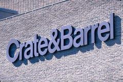 Crate&Barrel logo zdjęcia stock