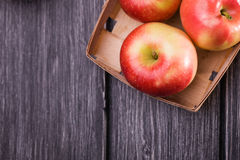 Crate box full of apples Royalty Free Stock Image