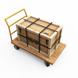Crate on cart Stock Photo