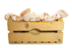Crate with chicken Stock Image