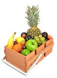 Crate of fresh fruit Stock Photo