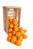 Crate fresh tangerines Stock Photo