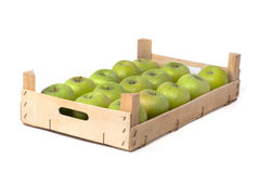 Crate With Green Apples Royalty Free Stock Image