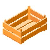 Crate icon, isometric style. Crate icon. Isometric of crate vector icon for web design isolated on white background stock illustration