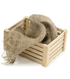 Crate and jute Stock Photography