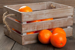 Crate with oranges Royalty Free Stock Photography
