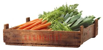 Crate of organic vegetables Stock Photography