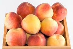 Crate of peaches. Stock Photos