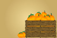 Crate of Pumpkins Royalty Free Stock Photography