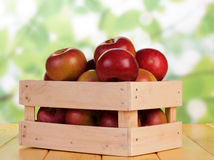 Crate with the red apples Royalty Free Stock Images