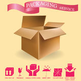 Crate and ribbon Royalty Free Stock Photography
