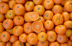 Crate of ripe tangerines. Stock Images