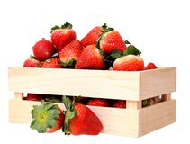 A crate of strawberries Royalty Free Stock Photography